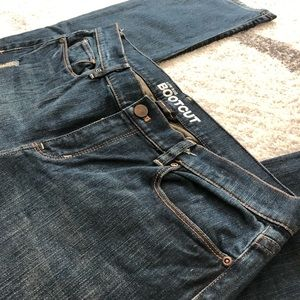 NY&Co Low Rise Bootcut Distressed Jeans